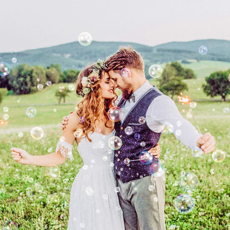 Geburtstag Hochzeitsdeko WEARXI 96 St/ück Seifenblasen Hochzeit Set Wedding Bubbles Deko Hochzeit mit Herzgriff f/ür Verlobung /& Hochzeit Gastgeschenke Weiss