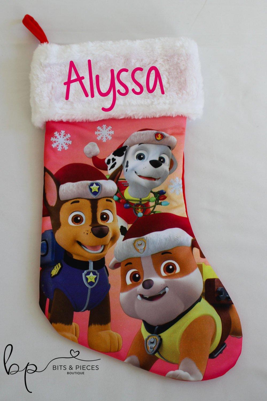 Personalized Paw Patrol Christmas Stocking