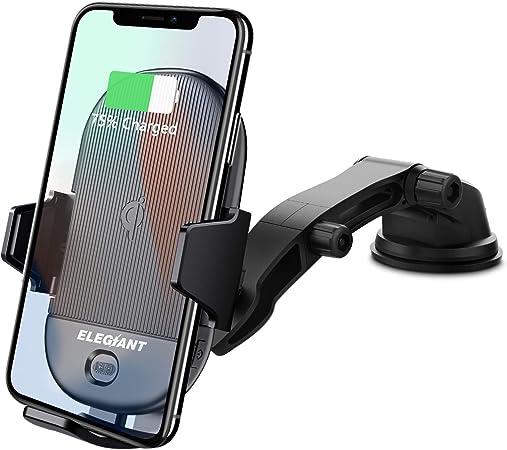 Elegiant Handyhalterung Auto 15w Wireless Charger Kfz Computer Zubehör