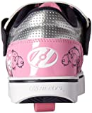 Heelys Girls' Twister x2 Sneaker, Navy/Pink/Silver, 2 M US Little Kid