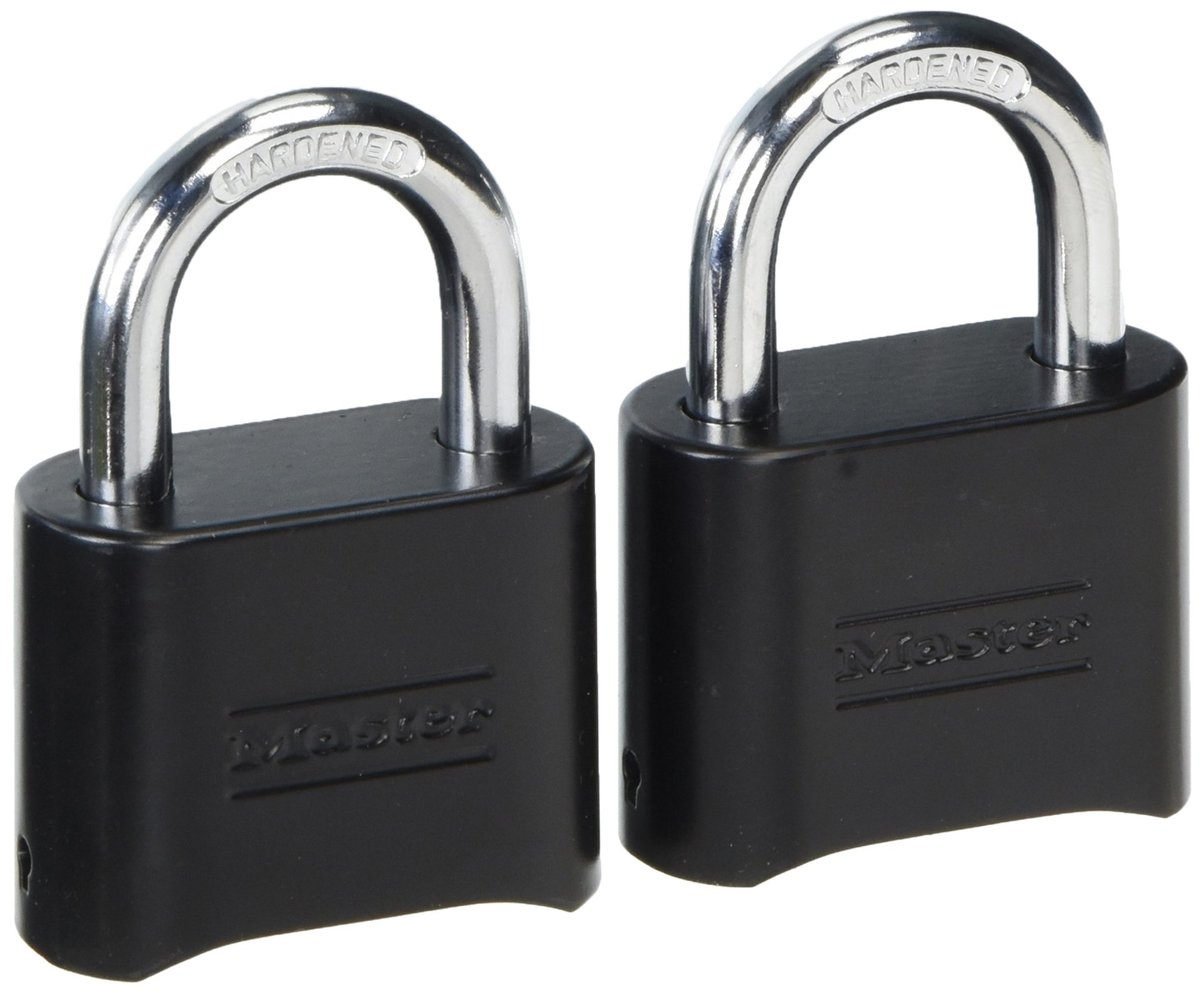 Master Lock 178D Set-Your-Own Combination Padlock, Die-Cast, Black (Pack of 2) by Master Lock