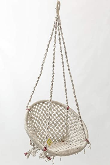 Curio Centre Round Bamboo Swing with 10 Knots