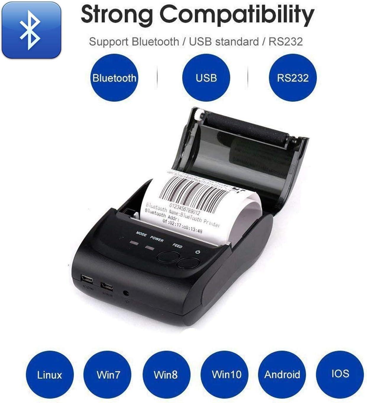 Impresora térmica inalámbrica con Bluetooth para Recibos, portátil ...