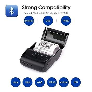 Impresora térmica inalámbrica con Bluetooth para Recibos ...