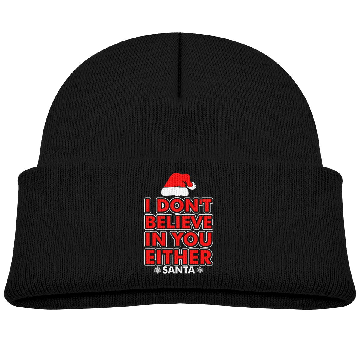 I Dont Believe in You Either Santa Infant Skull Hat Baby Boys Beanie Cap