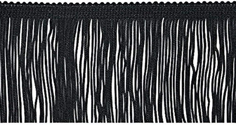 20-Yard Expo International 12-Inch Chainette Fringe Trim Embellishment Black