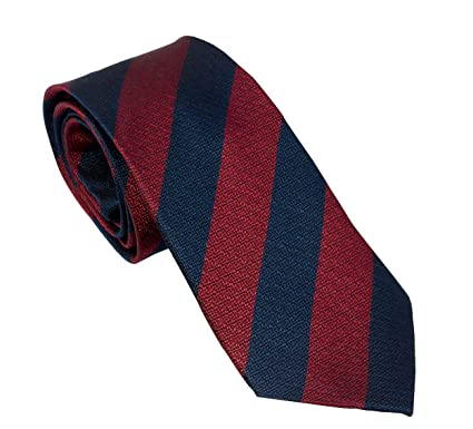 The Regimental Shop - Corbata - para hombre claret and navy blue ...