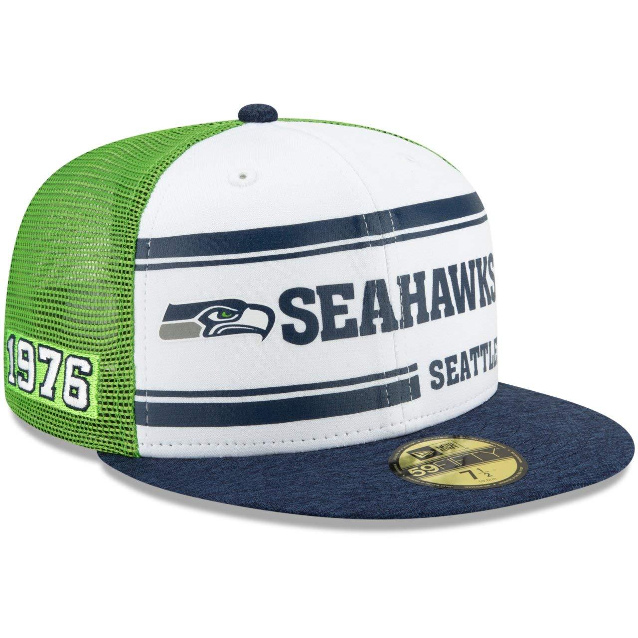 Sideline 1970s Home Seattle Seahawks New Era 59Fifty Cap