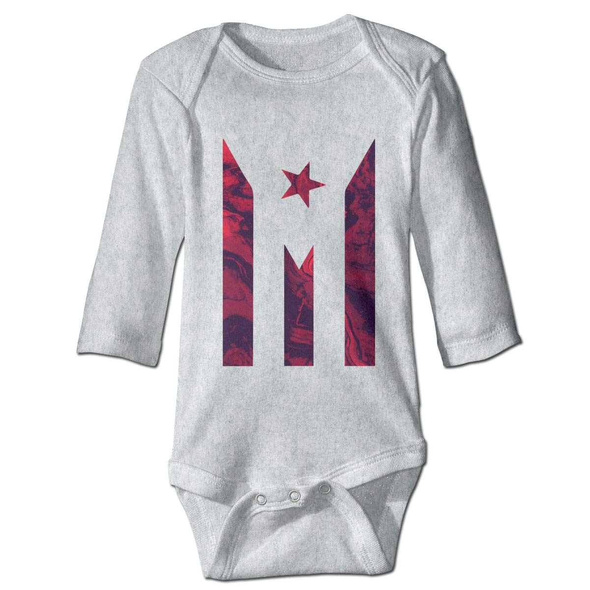 Infant Baby Boys Girls Long Sleeve Climb Jumpsuit Puerto Rico Resiste Boricua Flag Paint Flow Background Playsuit