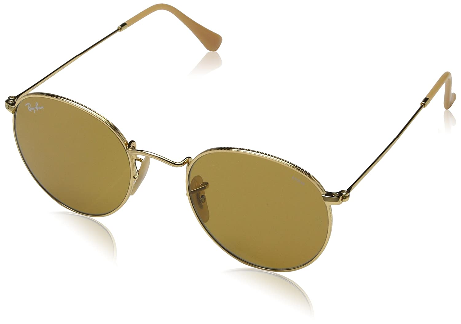 799dfde5f Amazon.com: Ray-Ban Men's Metal Man Sunglass Round, ARISTA, 52 mm: Ray-Ban:  Clothing