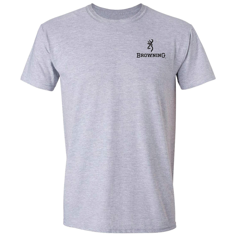 4ceae14f Amazon.com: Browning Men's Mossy Oak Bottomland Buckmark T-Shirt (Large):  Sports & Outdoors