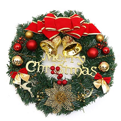 Amazon Com Baidercor 12 Christmas Wreath Decorations Merry