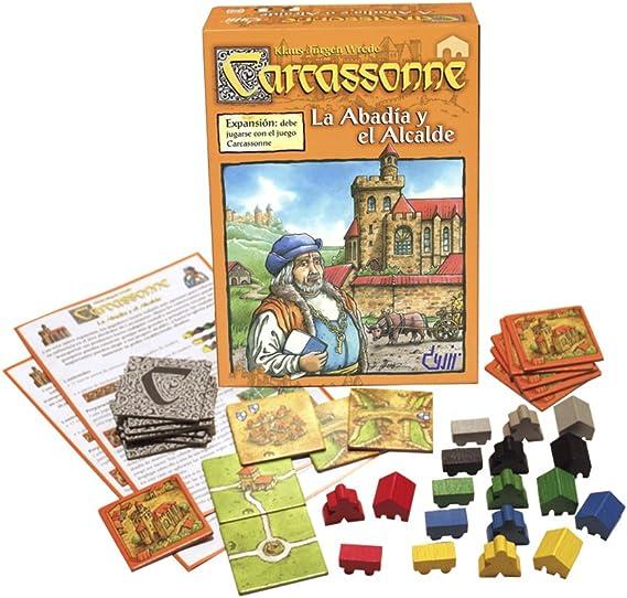 Devir - Carcassonne La Abadía y el Alcalde, Juego de Mesa (BGABA): Amazon.es: Juguetes y juegos