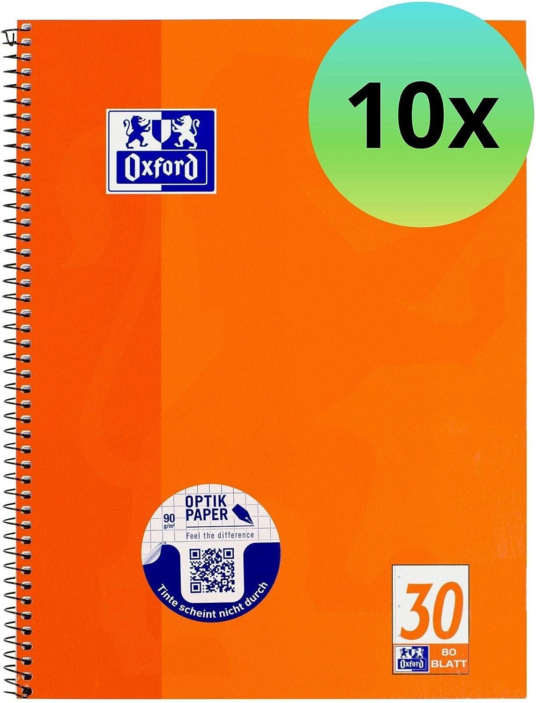 gelocht DIN A4 blanko 10x Schulblock 50 Blatt je Block