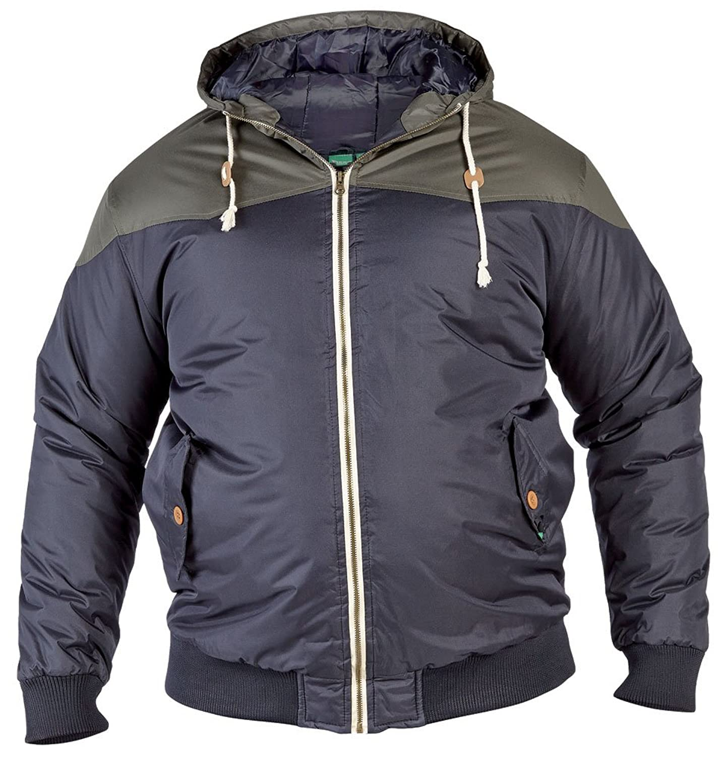 D555 Jeffery Mens Padded Quilted Jacket - Khaki Navy