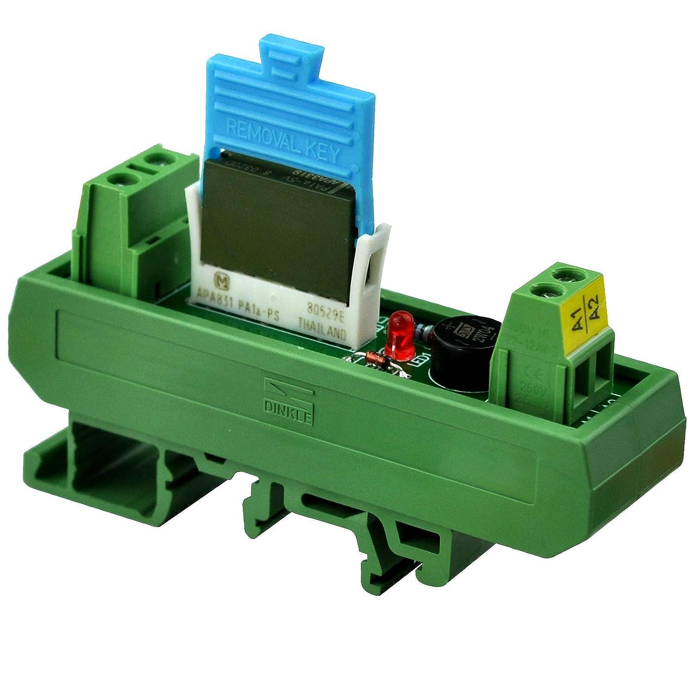 PA1a-24V. Electronics-Salon AC//DC 24V Slim DIN Rail Mount 5Amp SPST-NO Power Relay Interface Module