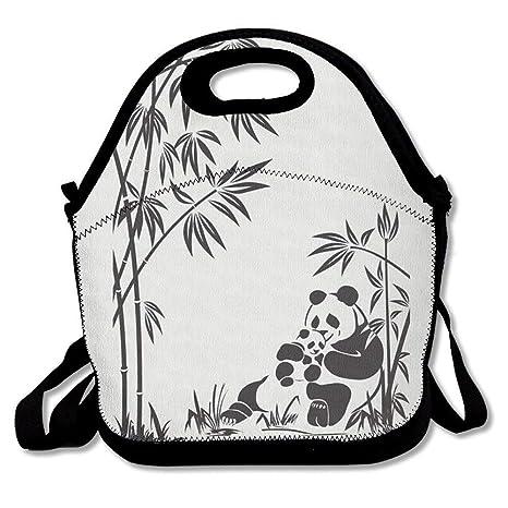 Dozili Panda y bambú boceto grande y grueso neopreno bolsas ...