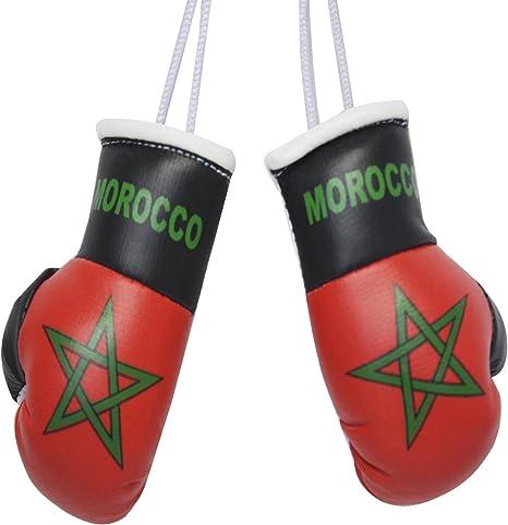 Maroc Flag Mini Gants de Boxe pour la Maison ou la Voiture