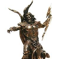 Veronese Re Greco Dio Zeus Jupiter Thunder Statua Bronzo Finitura Scultura 29,2 cm