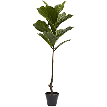 Nearly Natural Fiddle Leaf Indoor/Outdoor UV Resistant Tree, 4u0027