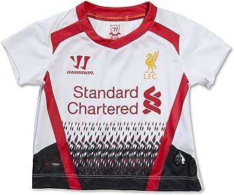 WARRIOR - Conjunto de fútbol Infantil (Camiseta, pantalón Corto y Medias, Temporada 2013-2014), diseño de Liverpool FC