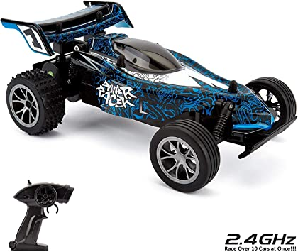 CMJ RC Cars 1:16 Control remoto Zoom Buggy Blue High Speed ...