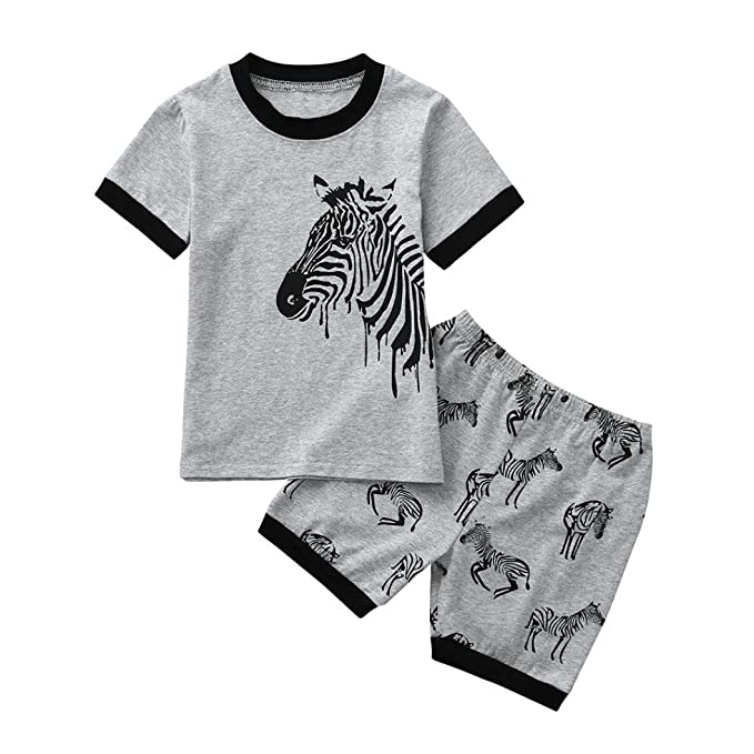 Amazon.com: Juego de 2 pijamas de verano con estampado de ...