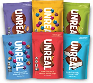 product image for UNREAL Vegan Variety Pack | Less Sugar, Fair Trade, Non-GMO | 6 Bags