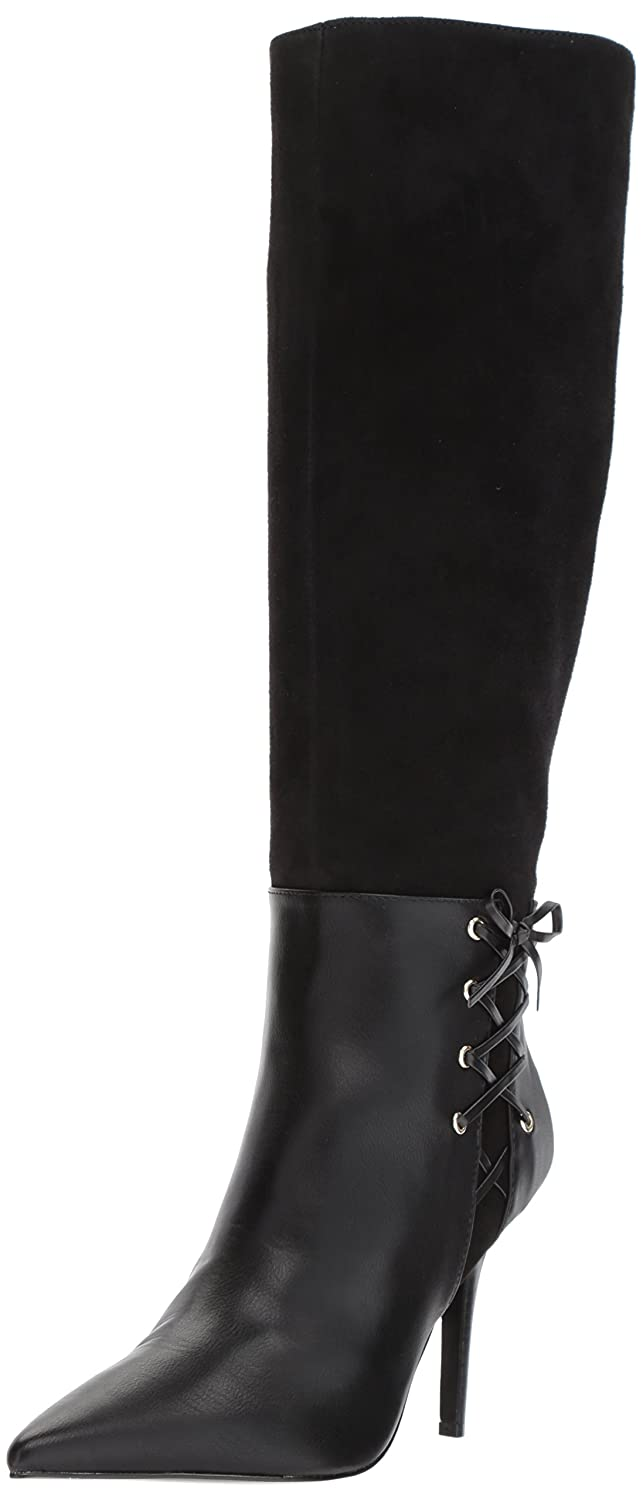Nine West Women's Jackal Suede Knee High Boot B071478SFW 10 B(M) US|Black/Black Suede