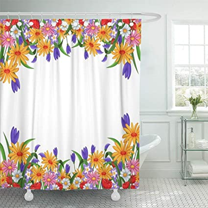Amazon Shower Curtain 72x72 Black Insect Flowers For You Design