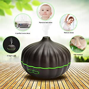Ultrasonic Aroma Cool Mist Humidifier for Office Home Bedroom Baby Room Yoga Spa