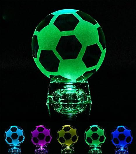 liuhoue Creative Crystal en Color fútbol iluminación ...
