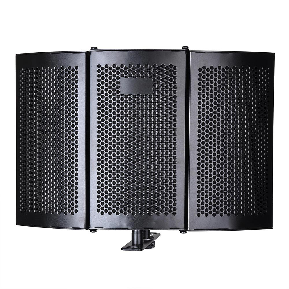 AW Studio Microphone Isolation Shield Acoustic Foam Panel Soundproof Filter Recording Panel Stand Mount by AW (Image #3)
