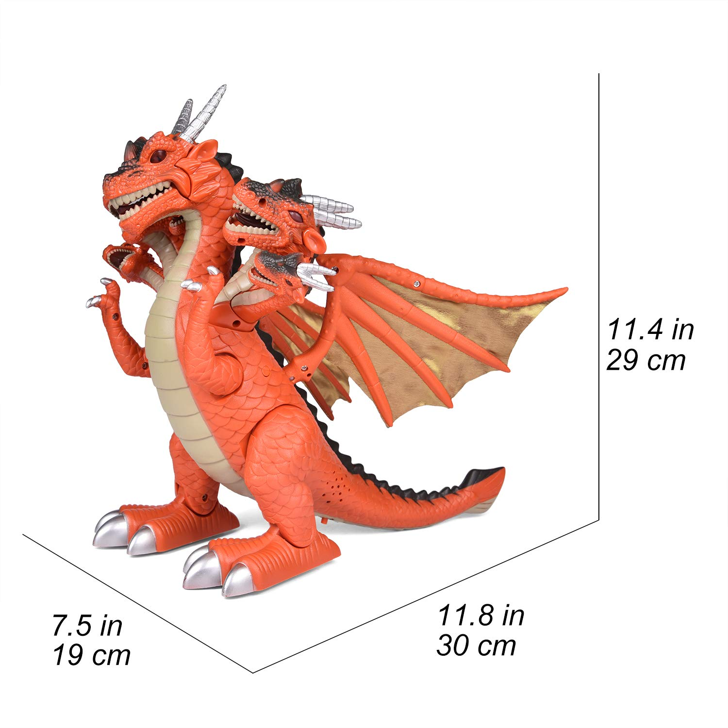 Dragon Toys for Boys, Seven Heads Walking Dragon 11.8''(L)×11.4''(H) Large Size with Lights and Sounds by FUN LITTLE TOYS (Image #6)