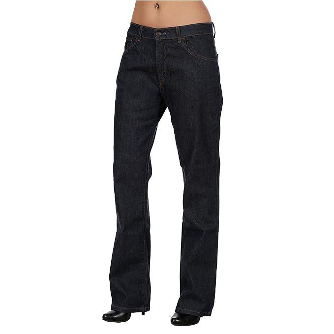 Denim Alta Vita Donna Levis Jeans 595 Levi's Elasticizzati Dritto xZCq7Pwn8n
