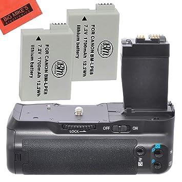 Big Mike s Kit de empuñadura de batería para Canon Rebel T2i T3i ...