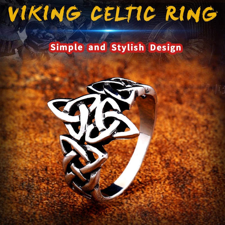 BAVAHA Rock Punk Viking Nordise Ring Stainless Steel Popular Nature Signet manwomen Engagement Party Jewelry as Gift
