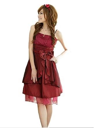 Bordeaux rot kleid amazon