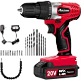 AVID POWER 20V MAX Lithium Ion Cordless Drill, Power Drill Set with 3/8 inches Keyless Chuck, Variable Speed, 16…