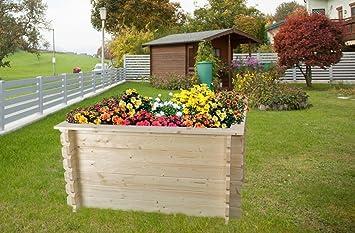 Hochbeet Gartenfreude Aus Blockbohlen Sockelmass 148 X 98 Cm
