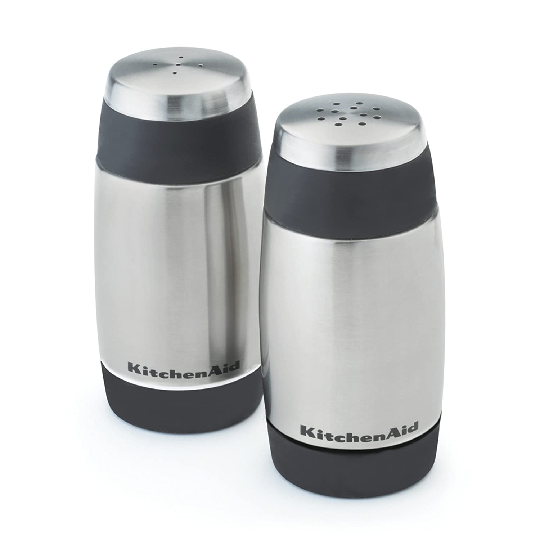 KitchenAid Salt and Pepper Shakers, Black Lifetime Brands 5330OB