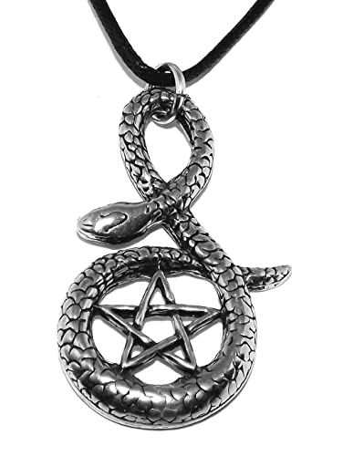 Occult inverted pentagram and snake pentacle pendant necklace occult inverted pentagram and snake pentacle pendant necklace aloadofball