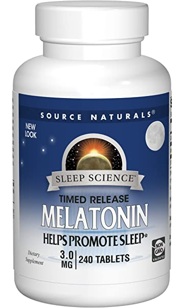 Source Naturals Sleep Science Melatonin 3mg - Time Release - 240 Tablets