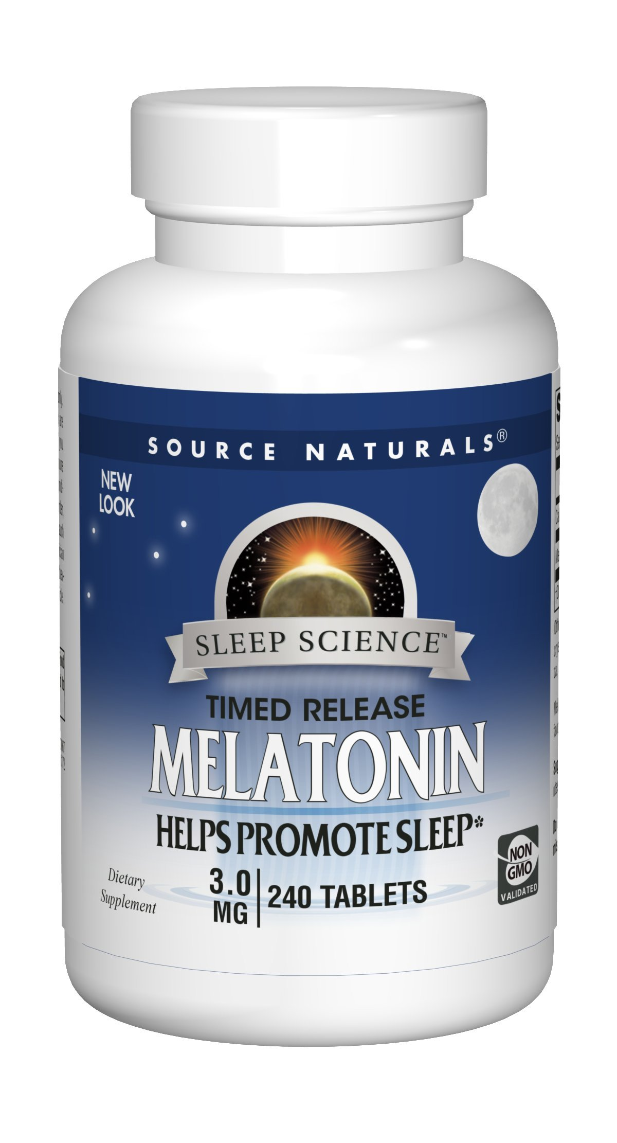 Source Naturals Melatonin 3mg - Sustained Release - 240 Tablets