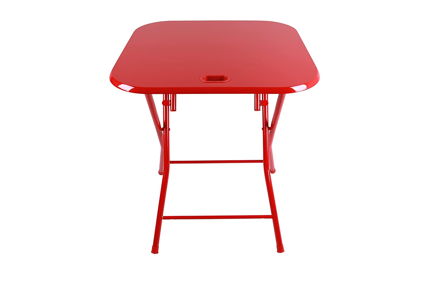 Amazon.com: Dar Living Folding Table With Handle, Red: Kitchen U0026 Dining