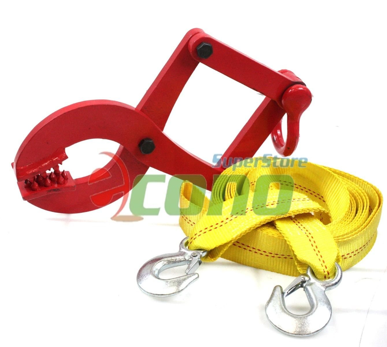 1 Ton Truck Pallet Pulling Scissor Clamp Puller Grip Gripper W/ 20ft Tow Strap by Generic