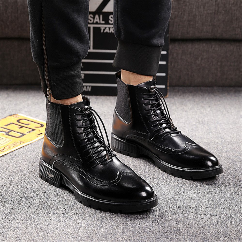 Frenulum, flachem flachem flachem absatz schuhe, männer chelsea Stiefel, schwarzer spitze und flachem absatz schuhe vogue,schwarz,40 1c82f5