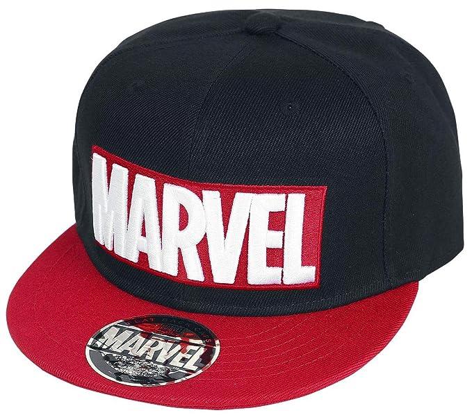 size 40 489eb 041f5 ... best price marvel logo snapback cap black red ddcab 1083e