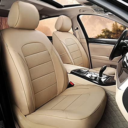3Row SUV 8seats Beige Covers with Beige Leather Steering Cover for Auto