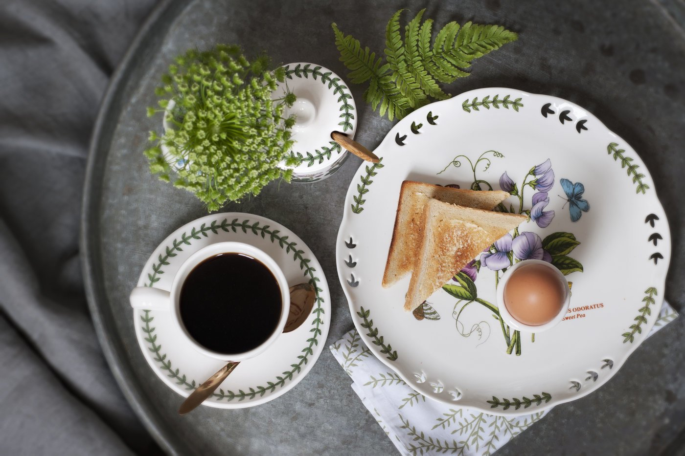 Portmeirion Botanic Garden Dinner Plates, Set of 6 Assorted Motifs by Portmeirion (Image #3)